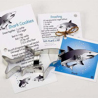 Cookie Cutter, Shark Cookie Cutter, Fish Cookie Cutter, Cookie Cutter with Recipe Cards, Party Favor, Baking Supplies, Cake Decoration