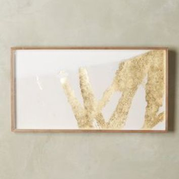 Zoe Bios Creative Goldsweep Wall Art in Gold Sticks Mondrian Size: One Size Decor