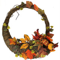 "Thanksgiving Wreath - 20 ""  - Cornucopia"