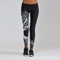 Slim Pants Print Gym Yoga Jogging Stretch Sportswear Leggings [10321052678]