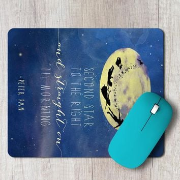 Rectangle Mouse Pad Second Star To The Right