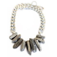 Rocked Up Necklace (Silver)