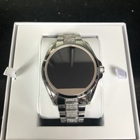 Michael Kors Access Bradshaw Silver Pavé Touchscreen Smart Watch MKT5000