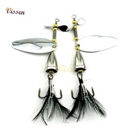 Vissen Fishing Lure Spoon Metal Spinner Lure Sequins Fishing Lure Baits Crankbait 1 pieces Spoon baits for Pike