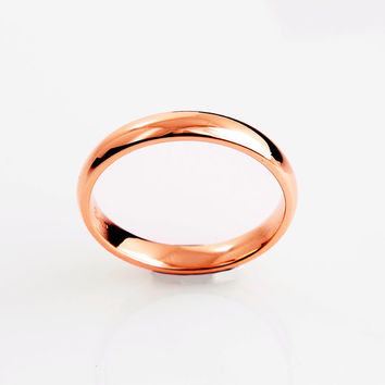 Simple 14k Rose Gold wedding band, Ring, Rose gold, Thin wedding, Simple wedding band, promise, commitment, minimalistic