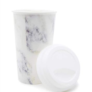 Marble Ceramic To-Go Mug