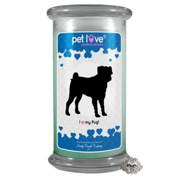 I love my Pug! | Pet Love Candle®