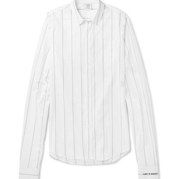Vetements - Exaggerated-Sleeve Striped Cotton Shirt