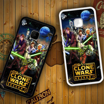 clone wars Y0639 HTC One S X M7 M8 M9, Samsung Galaxy Note 2 3 4 S3 S4 S5 (Mini) S6 S6 Edge