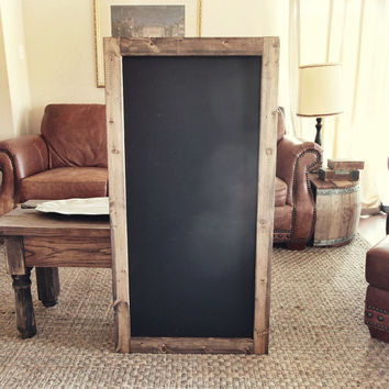 large rustic framed chalkboard sign