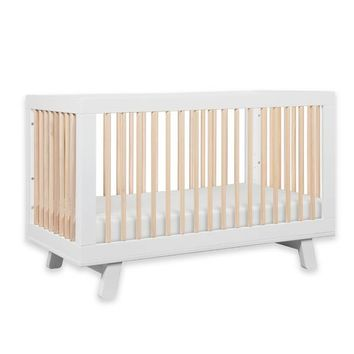Babyletto Hudson 3-in-1 Convertible Crib in White/Washed Natural