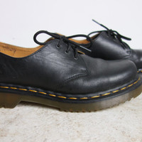DR MARTENS Black Leather Oxford - Men's Size 6 - Six Doc Martens The Original Women's Size 8/8.5