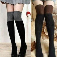 Sexy Women Girl's Knit Over The Knee Thigh High Socks Stockings