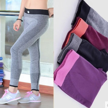 plus size 2015 summer new fashion Yoga elastic pants = 1932781828