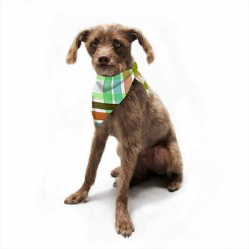 "Ebi Emporium ""Plaid Stripes In Color 4""  Pet Bandana"