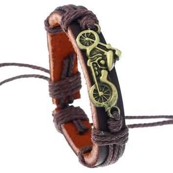 Great Deal Shiny Hot Sale Gift Awesome New Arrival Stylish Vintage Simple Design Leather Accessory Alloy Men Bracelet [250988822557]
