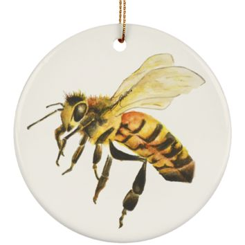 Honey Bee Queen Christmas Ornament Painted by Deja Wolfe