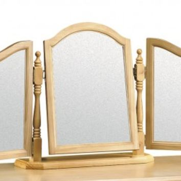 Julian Bowen Pickwick Solid Pine Triple Mirror
