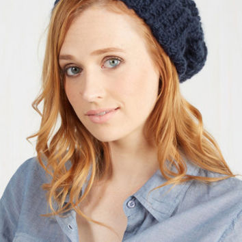 Beignet or Nay Hat in Navy by ModCloth