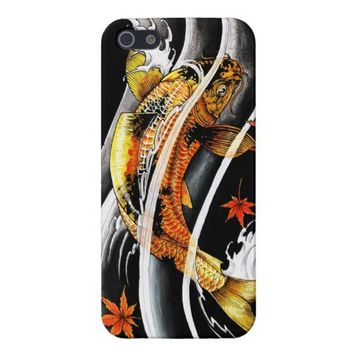Cool oriental japanese Gold Lucky Koi Fish tattoo iPhone 5 Cover from Zazzle.com