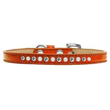 Pearl and Jewel Puppy Ice Cream Collar - Orange