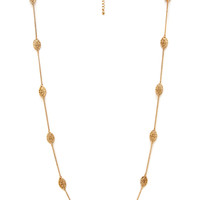FOREVER 21 Filigree Charm Necklace Gold One