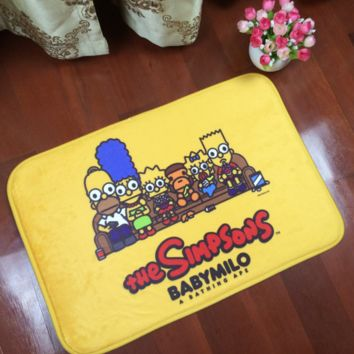 Cartoon The Simpsons Print Anti-skid Alphabet Bathroom Carpet Living Room Bedroom Mat