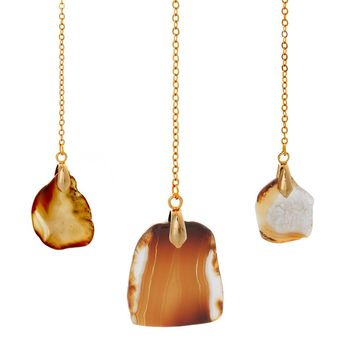 """Amber """"Eternal"""" 18k Yellow Gold Plated Necklace - Jewelry by Cate & Chloe"""