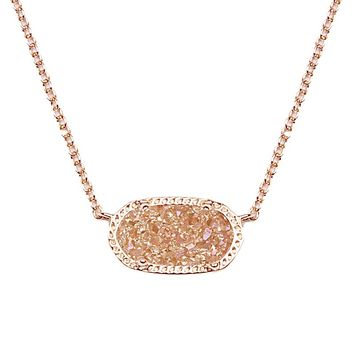 Elisa Pendant Necklace in Champagne Drusy - Kendra Scott Jewelry