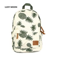 Fashion Pineapple Canvas Backpack