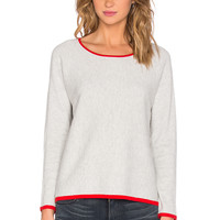 Velvet by Graham & Spencer Charon Gauzy Whisper Long Sleeve Top in Ash