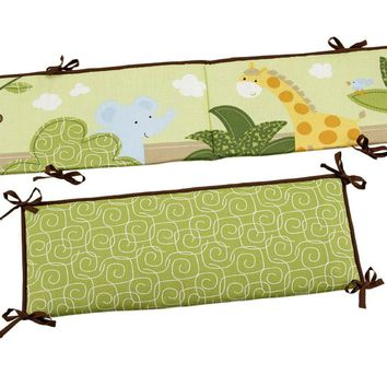 Jungle Time Padded Crib Bumper Baby Bedding