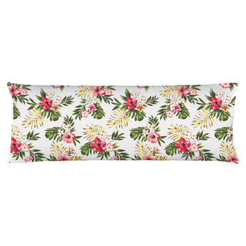 Tropical Flowers Two Body Pillow