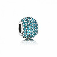 Pandora Teal Pave Lights Charm, Tropical, Teal - Pandora Mall of America, MN