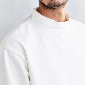 BDG Boxy Mock-Neck Sweatshirt - Urban Outfitters