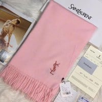ONETOW YSL Women Embroidery Cashmere Warm Winter Scarf Scarves