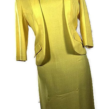 Vintage Jacobsen's Canary Yellow Suit Dress