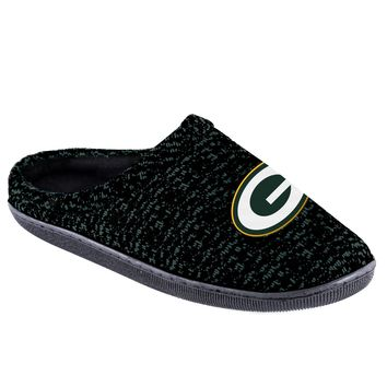 Green Bay Packers Official NFL Poly Knit Cup Sole Slipper