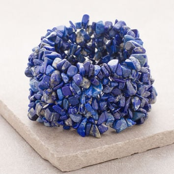 Lapis Nugget Power Cuff