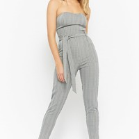Strapless Glen Plaid Jumpsuit