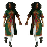 Green Dashiki Tall Shirts