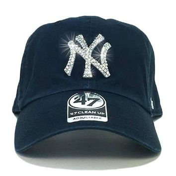 MLB - All Teams '47 Brand Adjustable Cap + Swarovski Crystals
