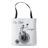 Model T Penny Farthing Classic Black and White Tote Bag