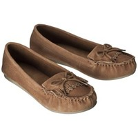 Women's Mossimo Supply Co. Lenia Genuine Suede Moccasin - Tan