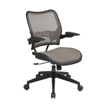 Space Seating 13 Series Deluxe Latte AirGrid Seat & Back Chair w/ Cantilever Arms