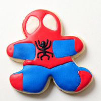 Spiderman Sugar Cookies