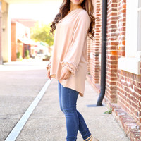 Walk Through The City Top - Taupe