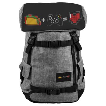Food + Xbox = Love Water and Snow Resistant Penryn Backpack