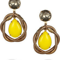 Lulu Frost|Knotted brass teardrop earrings|NET-A-PORTER.COM