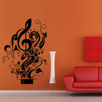Wall decal decor decals art sticker note hat magic illusion cherry music song heart relax star (m391)